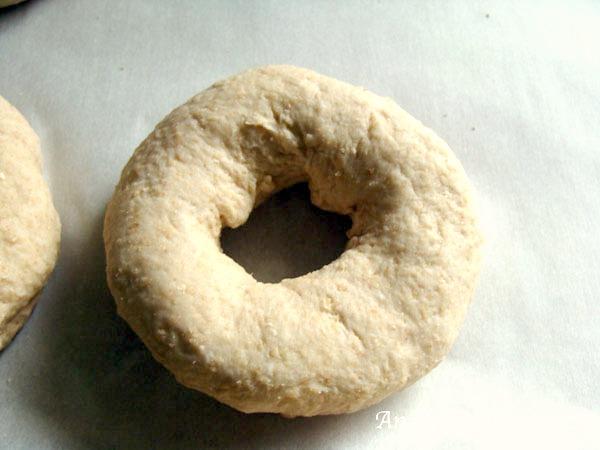 Sourdough Bagels-formed bagels