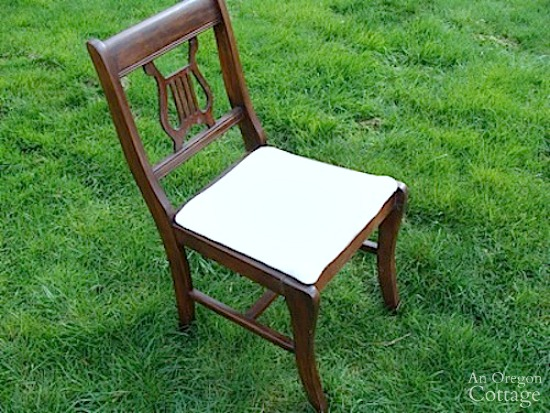 French style bench from old chairs-original chair