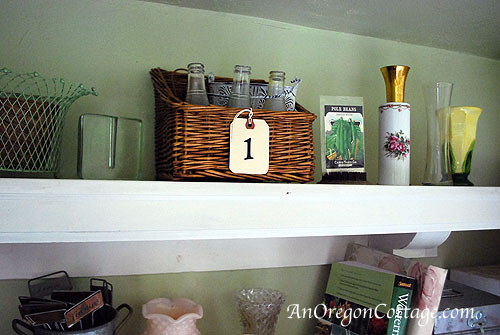 Garden shelf-1 basket