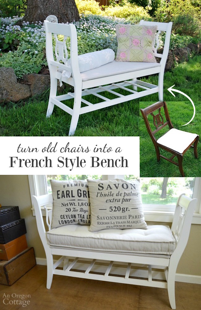 white shabby bench index cottage chic farmhouse painted