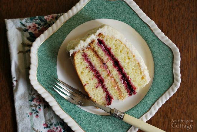 Lemon Berry Cake Slice