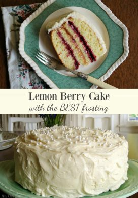 Lemon Berry Cake Recipe with the BEST Lemon Frosting Ever!