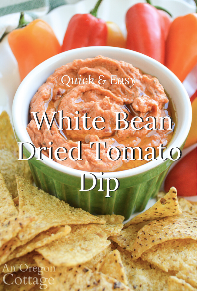 quick and easy white bean dried tomato dip