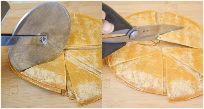 2 ways to cut tortillas