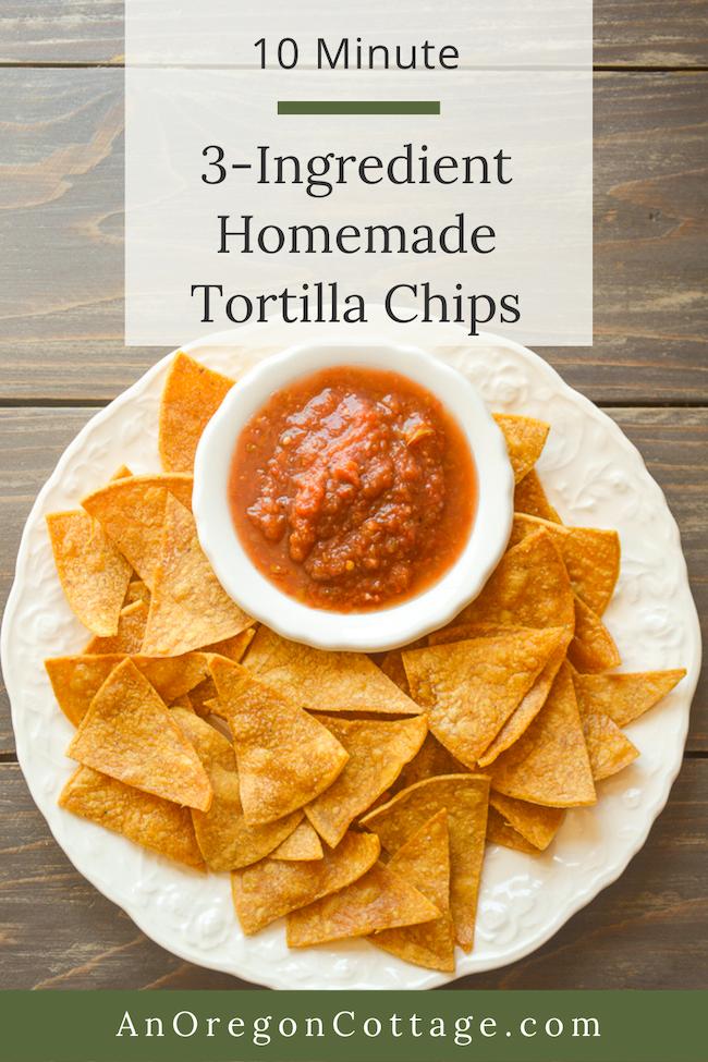3 ingredient homemade tortilla chips