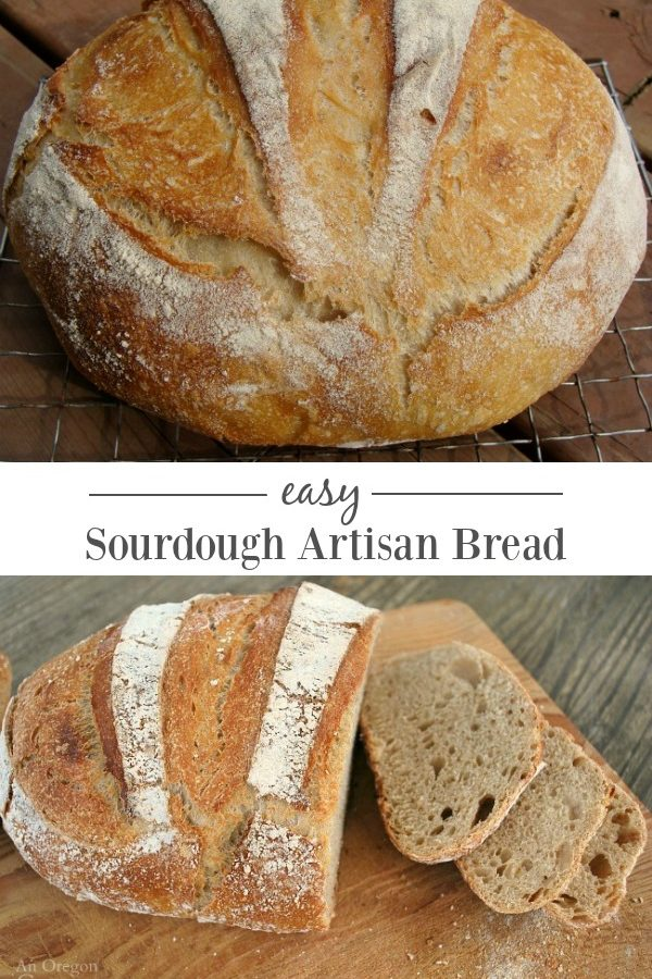 Loaf of sourdough artisan bread