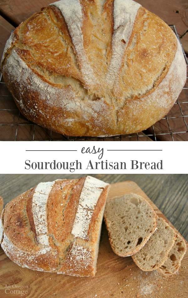 Easy and delicious sourdough artisan bread