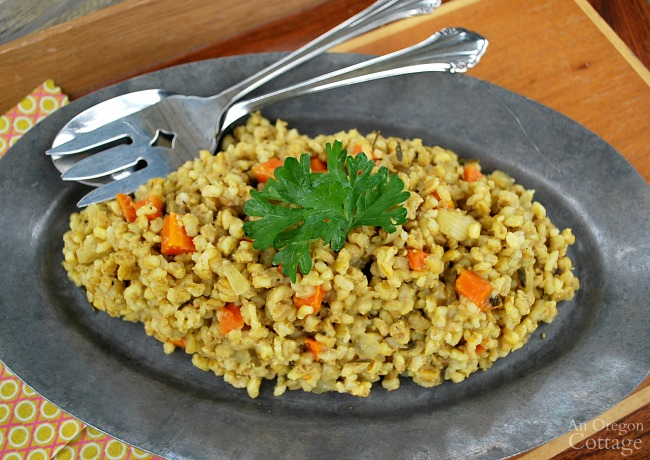 Slow Cooker Curried Barley