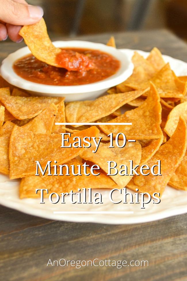 easy baked tortilla chips