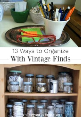 ways to organize with vintage finds