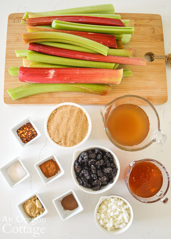 rhubarb chutney ingredients