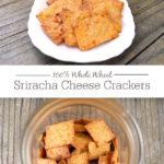 Whole Grain Sriracha Cheese Crackers