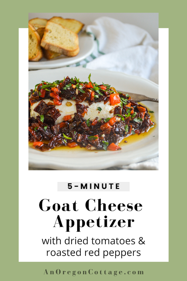 5 minute goat cheese appetizer