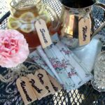 Beverage Wood Tags on pitchers