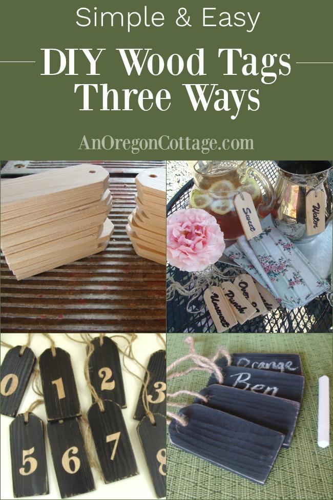 DIY Wood Tags 3 Ways