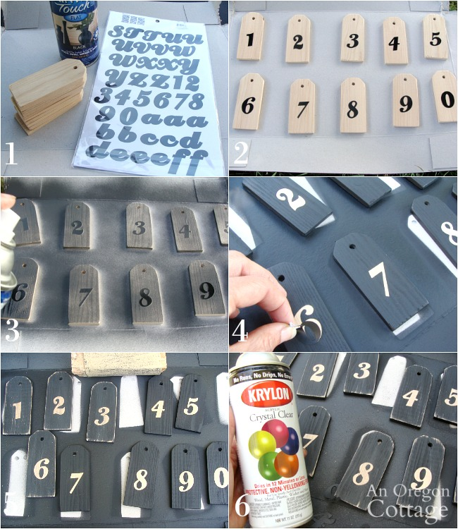 Making numbered wooden tags