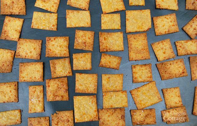 Sriracha Cheese Crackers baking