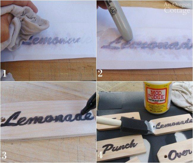 making wood beverage tags