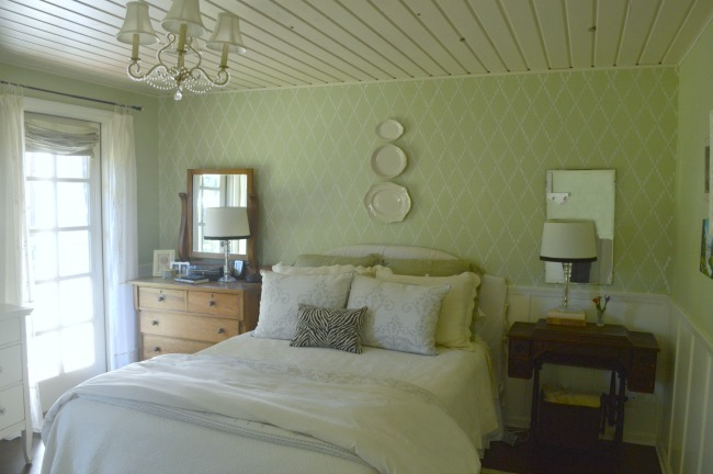 Cottage Farmhouse Master Bedroom with french door