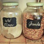 chalkboard label jars