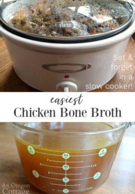 Easiest Slow Cooker Chicken Bone Broth