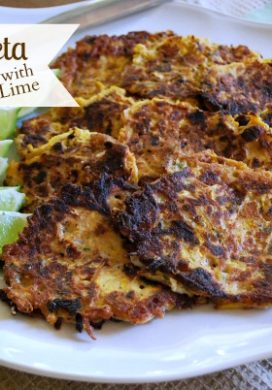 Zucchini-Feta Fritters with Lime