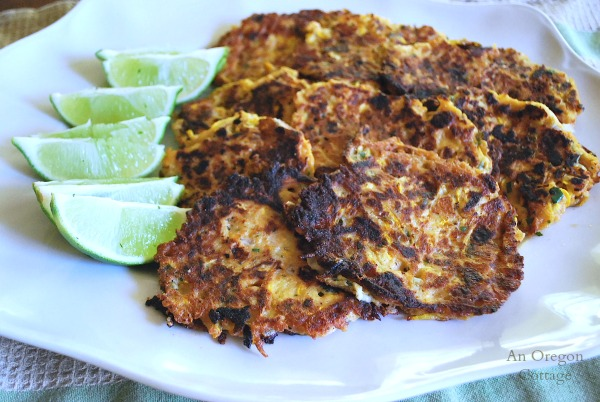 Zucchini Fritters with Feta and Lime - An Oregon Cottage