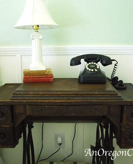 Antique Sewing Machine to Nightstand