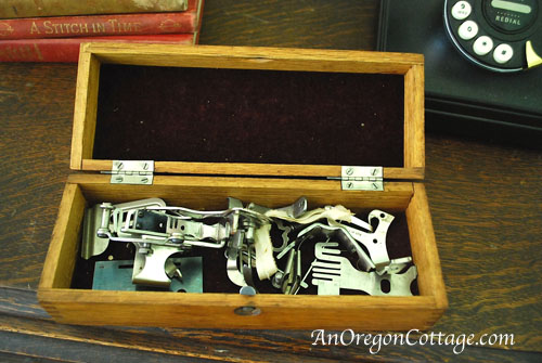 opened accessory box