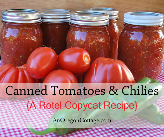 Make (and can for shelf stability if you want) a Rotel copycat recipe at home using fresh ingredients - it really is like the real thing!