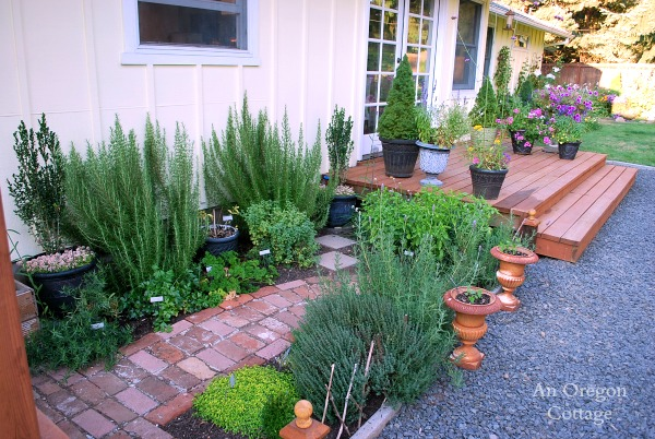 DIY Backyard Makeover- Herb Garden-Entry Deck