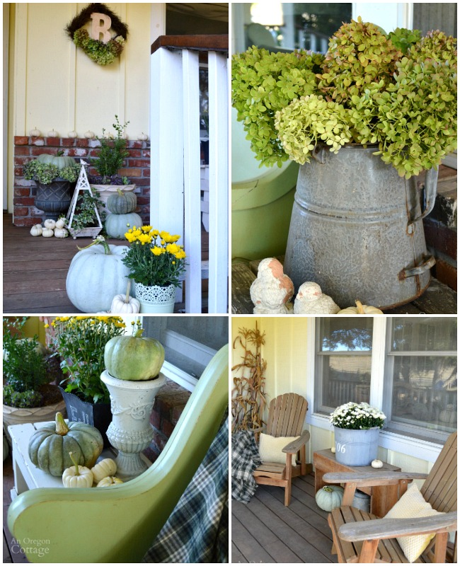 Fall Porch Decor from the garden 2015