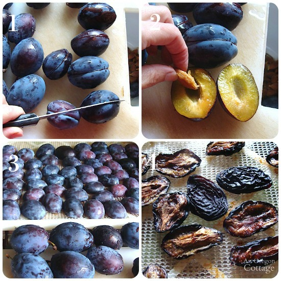 Steps to make dried plums