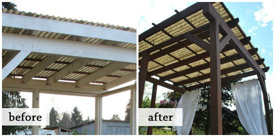gazebo roof before-after