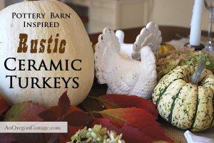 Thrift Store Transformations White Ceramic Turkeys