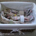 Basket of Cloth Family Napkins