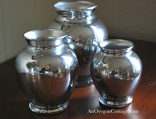 ginger jar faux mercury glass vases