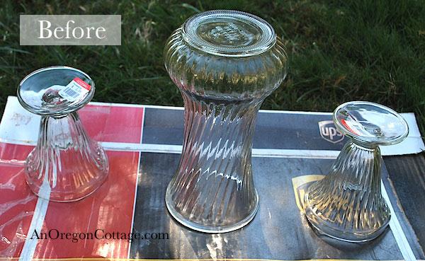 thrift store vases before
