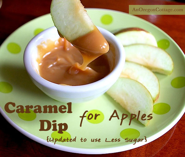 Lower sugar caramel dip for apples