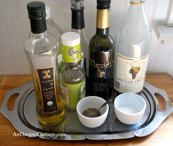 Silver oli-vinegar tray