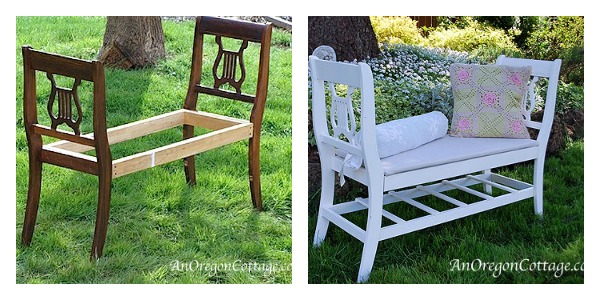 Thrift Store Furniture Transformations: Benches - An Oregon Cottage