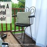 revive a vintage metal chair