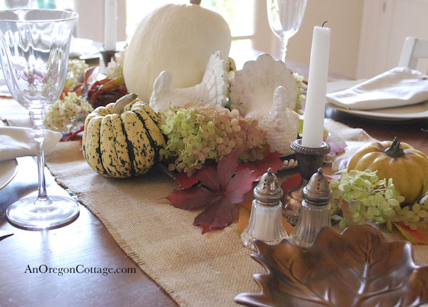 White Ceramic Turkey Centerpiece