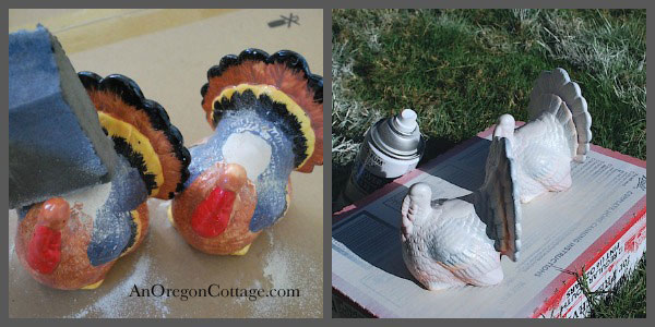 sand and paint turkeys