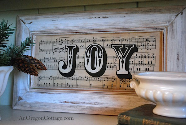 holiday sheet music joy sign