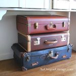 Vintage Suitcases Used for Storage