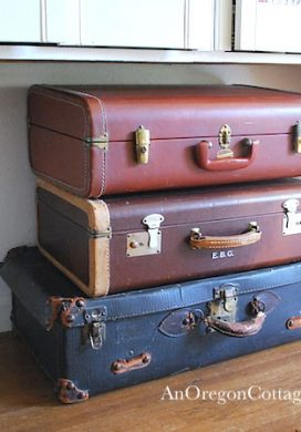Using Vintage Suitcases