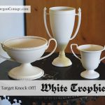 White Painted Trophies