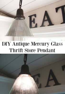 DIY Antique Mercury Glass Pendant {A Tutorial}