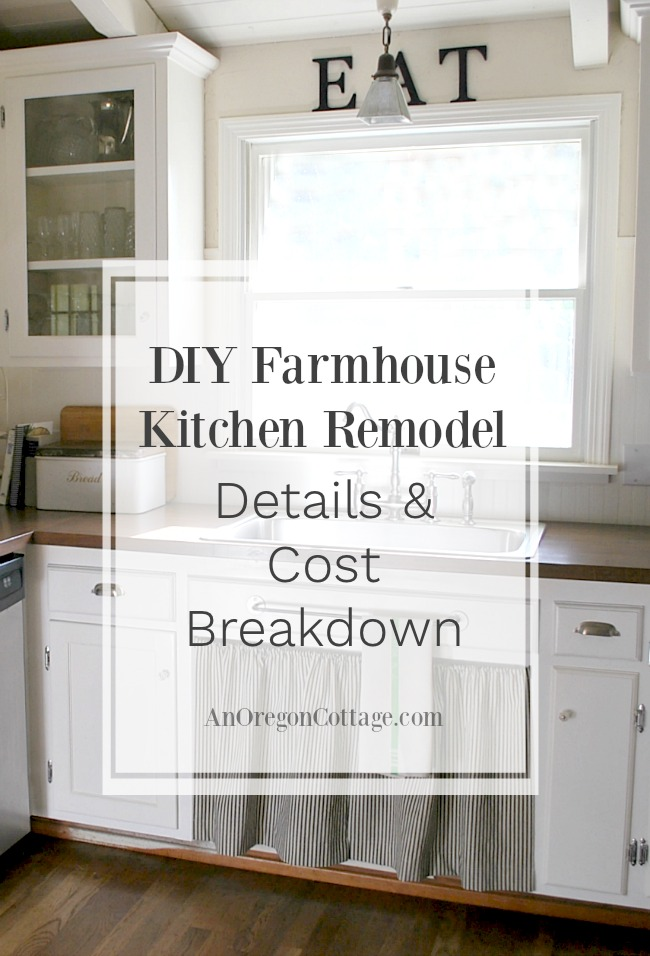 80s ranch to farmhouse fresh diy kitchen remodel details and cost breakdown an oregon cottage New kitchen remodel cost